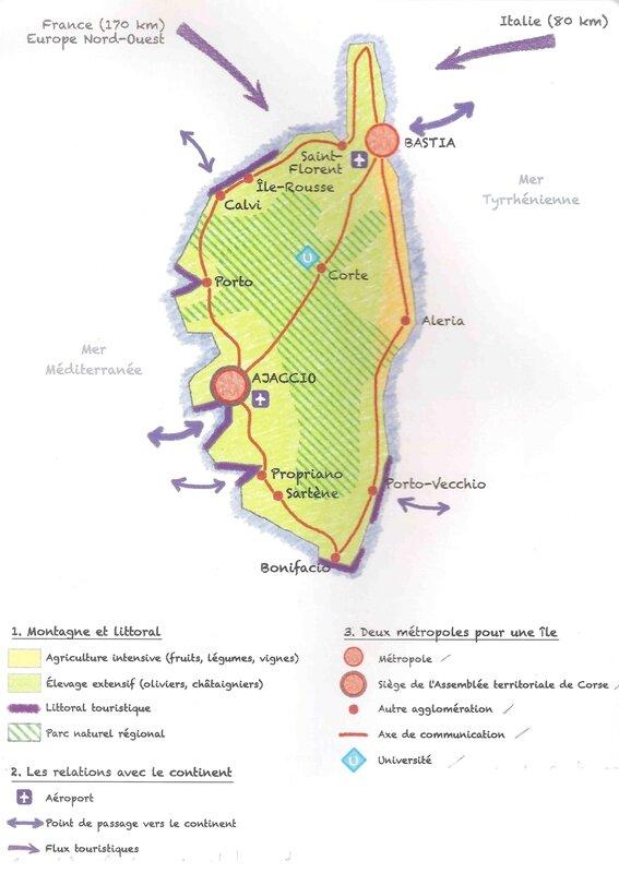 Croquis de la Corse 1