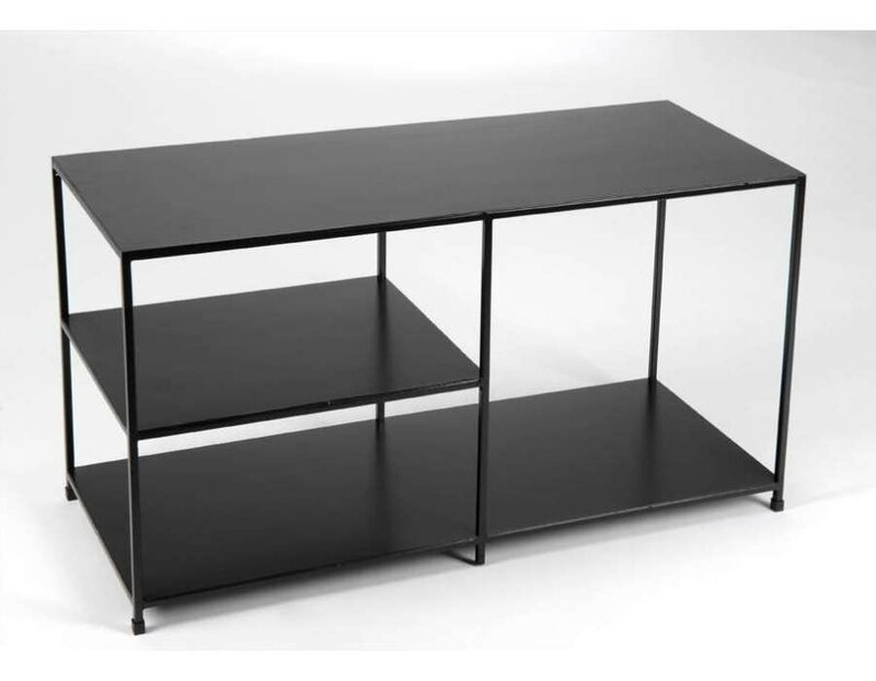 meuble tv metal noir pas cher. Black Bedroom Furniture Sets. Home Design Ideas
