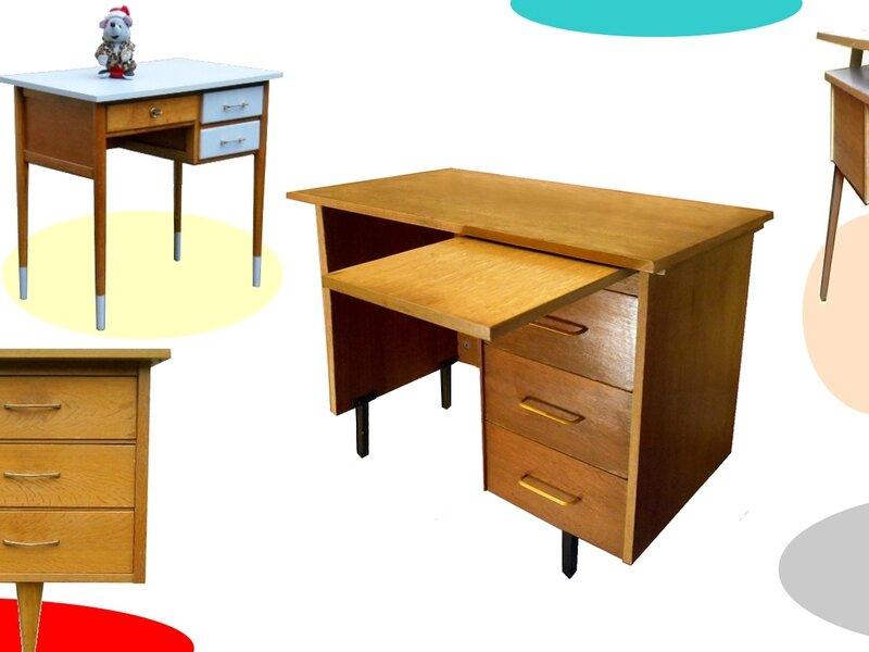 bureau vintage annees 60 70 meubles et d coration vintage design scandinave. Black Bedroom Furniture Sets. Home Design Ideas
