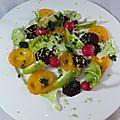 Salade tomates, betterave, chou-fleur