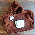 hooded baby poncho numero 60549 lion briand