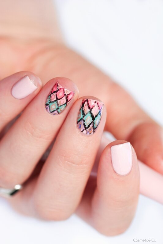 nail art ikat inspiration victoria's secret-5
