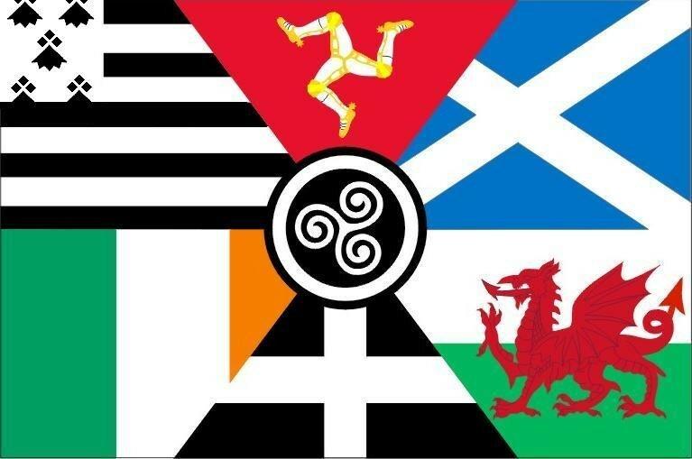 Drapeau Interceltique / Banniel Etrekeltiek / Interceltic Flag