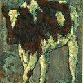 Holstein 203 30X16 cm - Technique mixte Romuald DELAIRE
