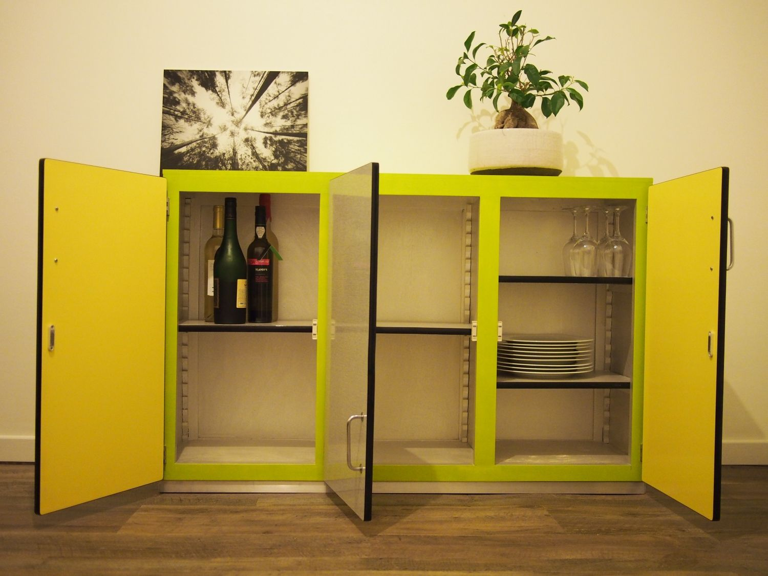 Finest buffet portes formica with meuble formica cuisine - Meuble cuisine formica ...