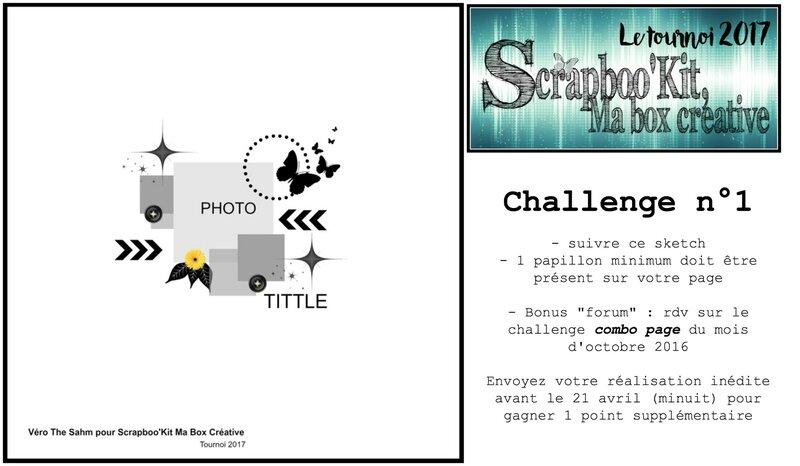 Challenge 1 tournoi 2017