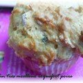 Retour des muffins sals... version roquefort-poire 