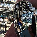Marseille, le Mucem, vue du bar à travers des lunettes de soleil (13)