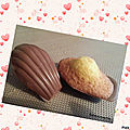 Madeleines orange chocolat