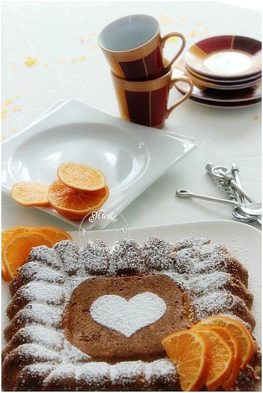 Gâteau à l'orange entière, sans beurre, sans farine......Un délice sans gluten! CONCOURS SAINT-VALENTIN....