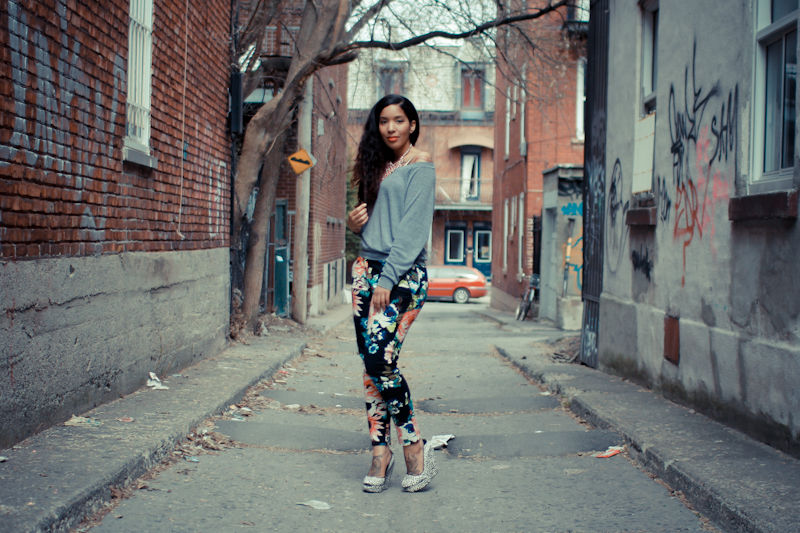 Elodie_Laetitia_Hello_Elo_Fashion_Blog_Mode_Montreal_Canada_Fashion_Blogger_Blogueuse_Mode_France_Tendance_Printemps_Ete_2012_Floral_pants_HM_pantalon_floral_2
