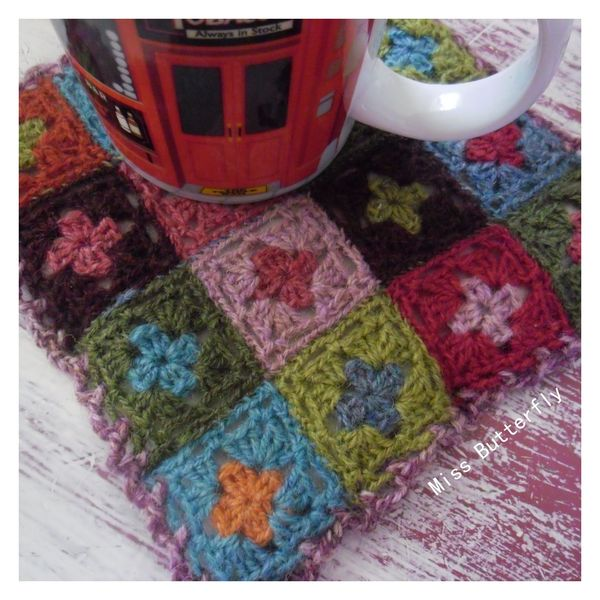 Potholder -Miss Butterfly1
