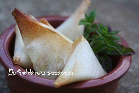 samossas pomme-chèvre-curry