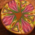 Canne kaleidoscope rose et verte