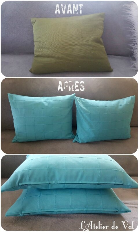 Coussins turquoises