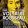 Voltaire vs rousseau : show must go on !