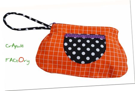 pochette_sac_orange___carreaux_et_poche_pois_1