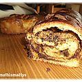 Brioche au chocolat et à la crème d'amande de c.felder