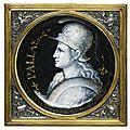 Limoges, vers 1555, attribué à léonard limosin (1505-1575/77) profil de pallas athéné