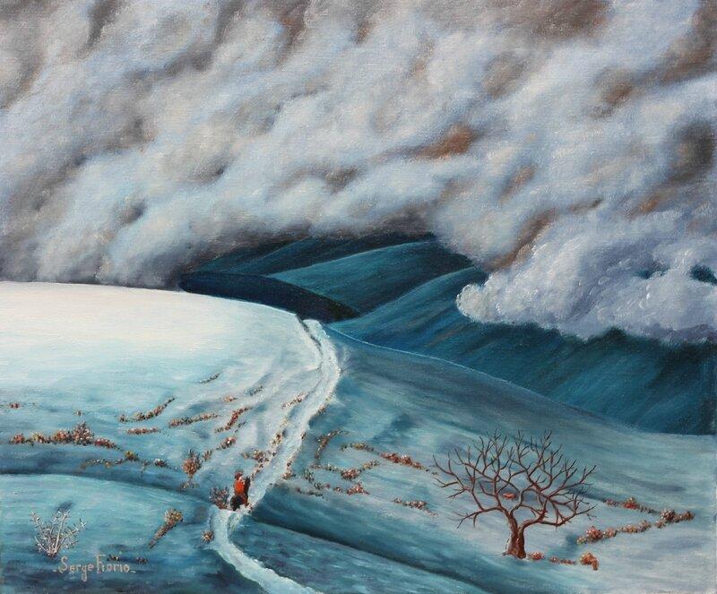 Paysage de neige -Manent