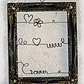 cadre coeur porte bijou fil de fer
