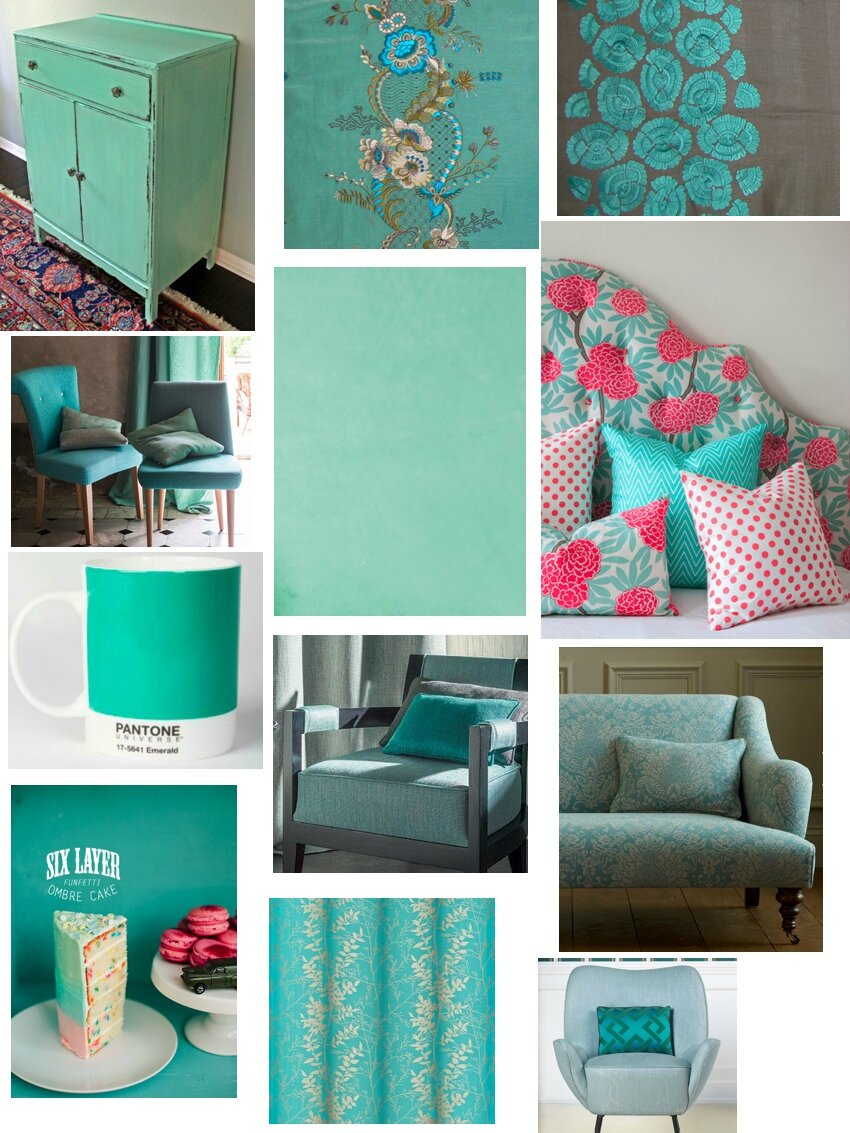menthe meraude turquoise lagon lucie dorlac tapisserie d 39 ameublement. Black Bedroom Furniture Sets. Home Design Ideas
