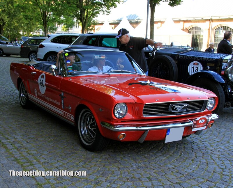 Ford mustang GT350 convertible de 1966 (Paul Pietsch Classic 2014) 01