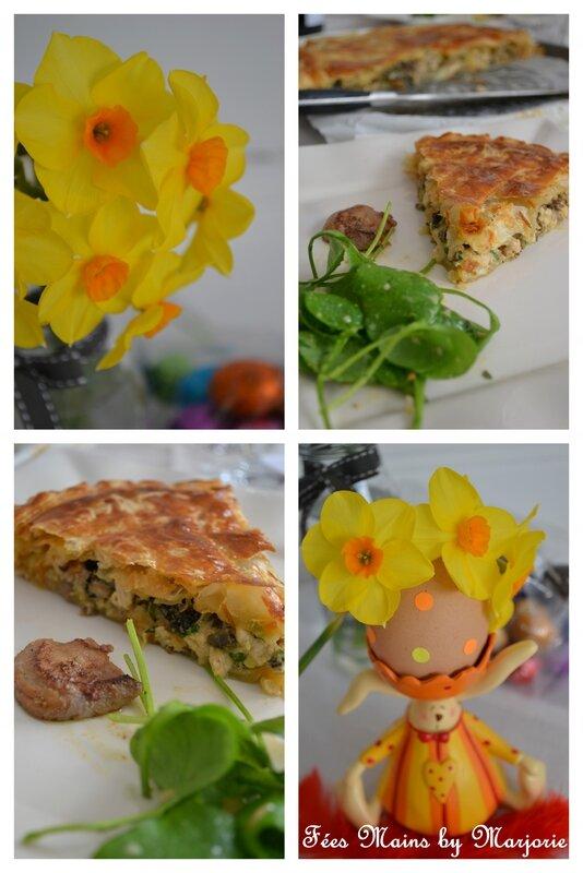 Tourte aux morilles et foie gras Pâques