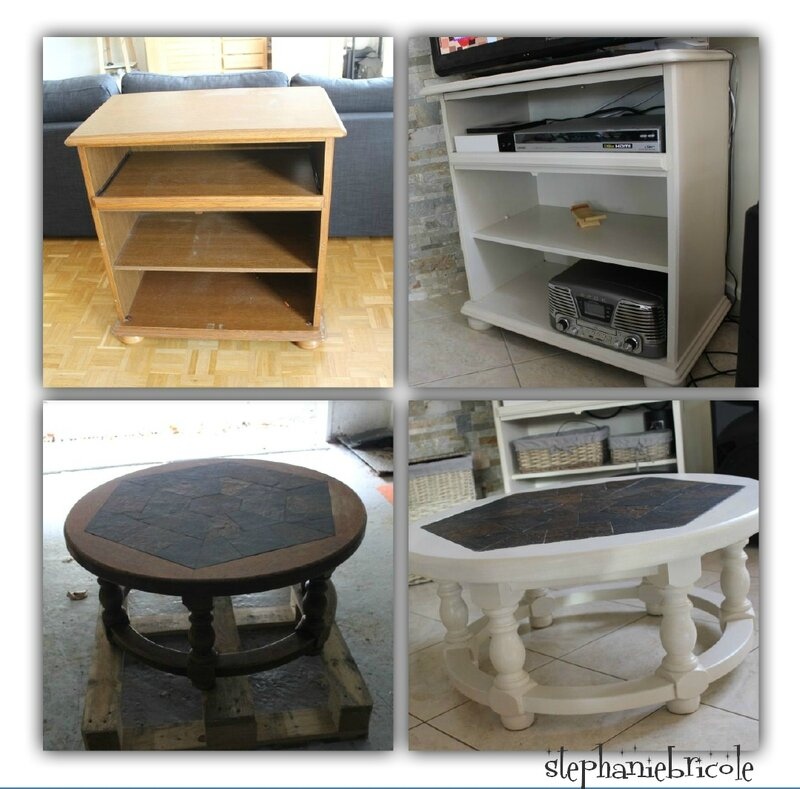 Diy r cup id e relooking transformation de meubles for Idee table basse recup