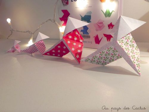 Origami Adeline Klam cocotte papiers Fifi Mandirac Au pays des Cactus