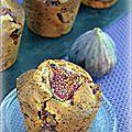 Muffins aux figues au chocolat-caramel