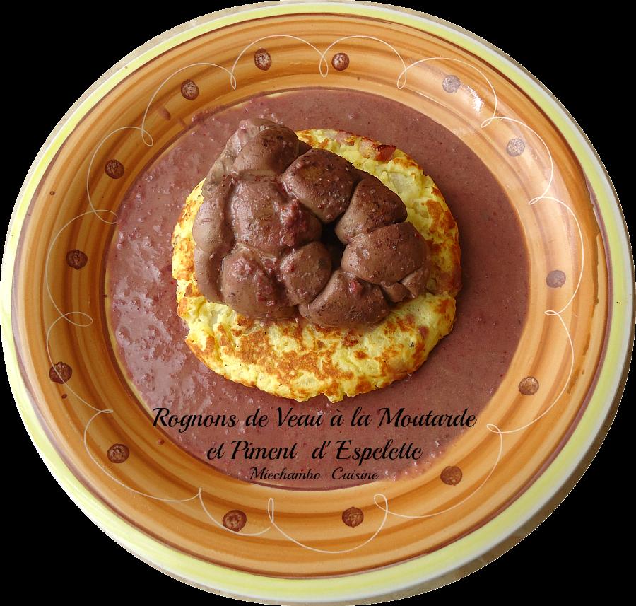 Rognons de Veau et d'Agneau à la Moutarde et au Piment d ' Espelette