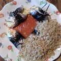 Sardines roulées au mascarpone et au chèvre
