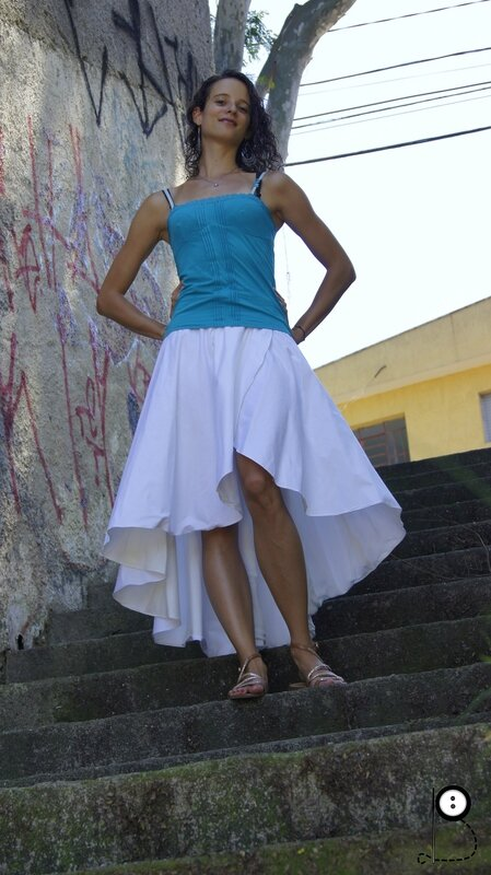 Jupe du nouvel an - cascade skirt