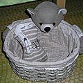 mannequin tricot dans son panier