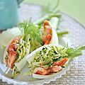 Salade de courgettes au crabe
