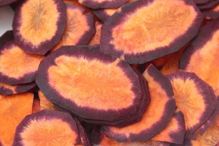 carottes violettes en tranches blog chez requia