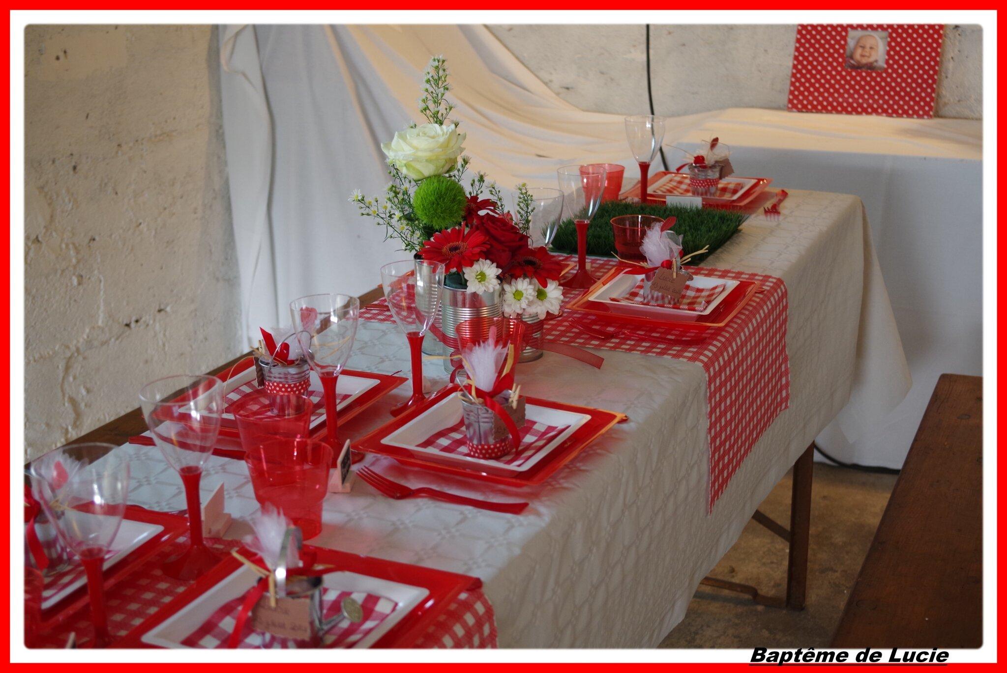 TABLE DU BAPTEME DE LUCIE