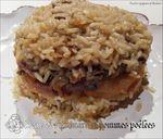 gâteau de riz canard et pommes poêlées