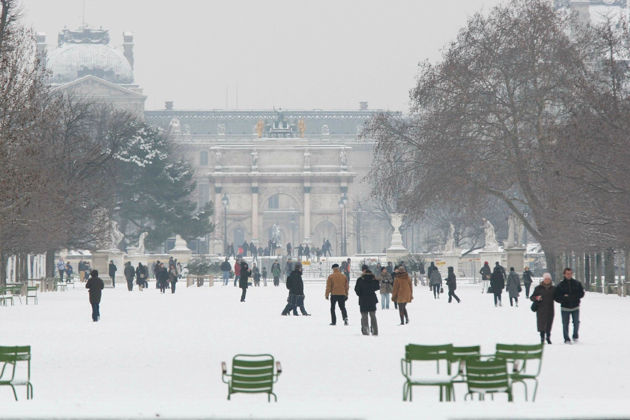 Paris sous la neige. © Photo Michel Stoupak. Sam 19.01.2013, 10:34.