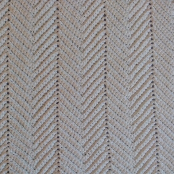couverture crochet chevron