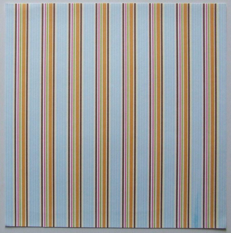 provocraft aqua&orange ticking stripe