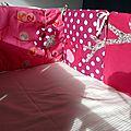 Tour de lit birdy pour les baby girls