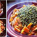 Tajine de carottes et petits-pois