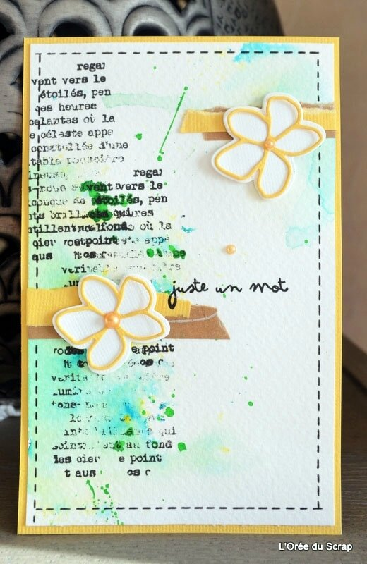 carte scrap blogorel fleurie