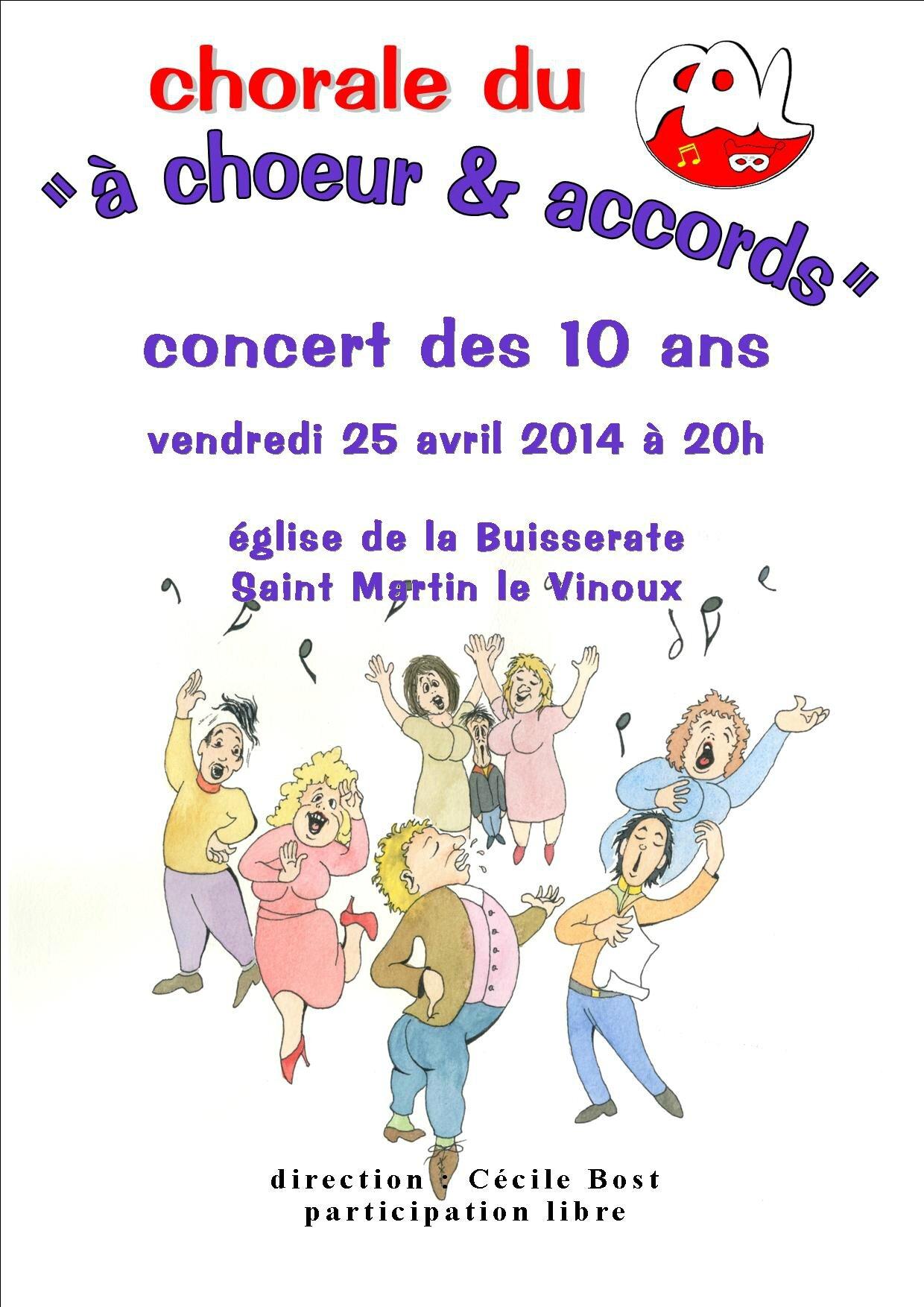Les 10 ans de la chorale a coeur et accord l 39 cho du n ron - Chorale coup de coeur laval ...