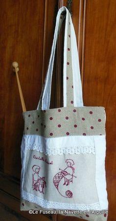 1-sac dentelle tricot 6