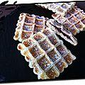 Gaufres feuilletées au chocolat