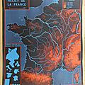 Collection ... affiche relief de la france / contours de la france