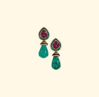 a_pair_of_emerald_and_ruby_ear_pendants_by_hemmerle_d5388421h